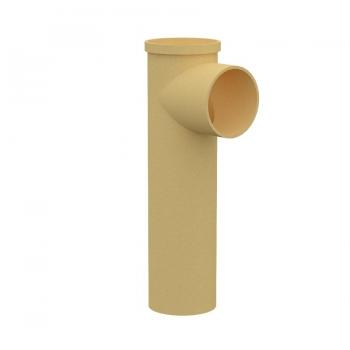 Тройник керамический для подключения потребителяMULTIkeram 665 мм. с коротким патрубком 90 мм М1