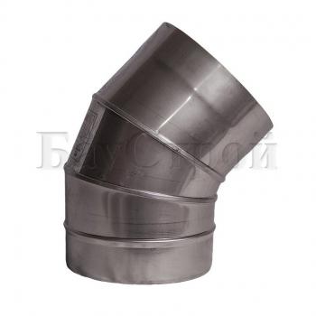 Колена 45° из нержавеющей стали, S 1 мм