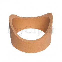 Патрубок керамический для подключения к дымовой трубе 90°, короткий 85 мм