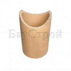 Патрубок керамический для подключения к дымовой трубе 90°, длинный 300 мм